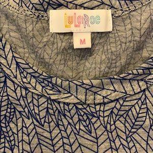 LuLaRoe Shirts - EUC Lularoe Blue Feather Patrick Tee